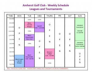 AGC Weekly Schedule